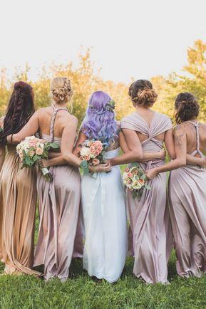 Set of 5 Infinity Dresses, Convertible Dress, Convertible Wrap Bridesmaid Dress, Long Convertible Bridesmaid Dress