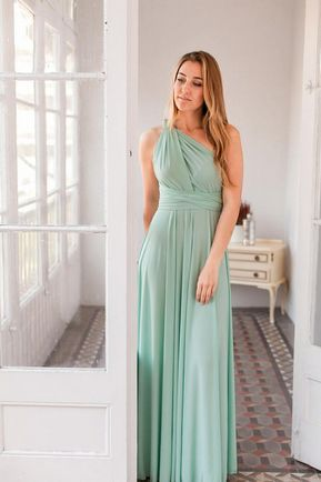 1 Bridesmaid Dress, Mint Convertable Dress, Wrap Dress Dridesmaid, Multiway Wrap Dress, Bridesmaid Dress, Summer Dress