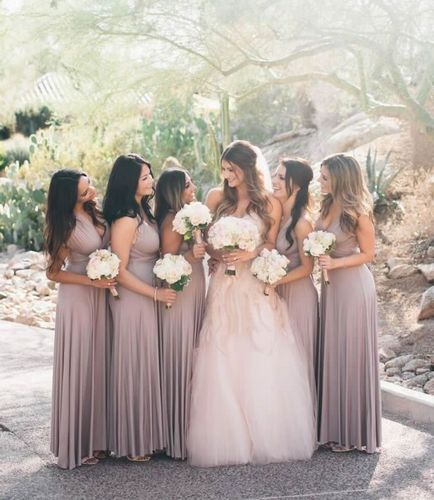 Pack of 4 Convertible Infinity Dress, Champagne Convertible Dress, Long Convertible Bridesmaid Dress, Infinity Dress