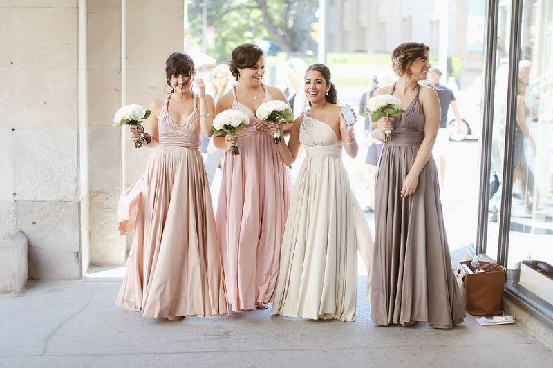 Set of 7 Pink, Whitr, GreyInfinity Dress, Floor Length Dress for Bride, Infinity Dress Plus Size, Twist Wrap Dress Long
