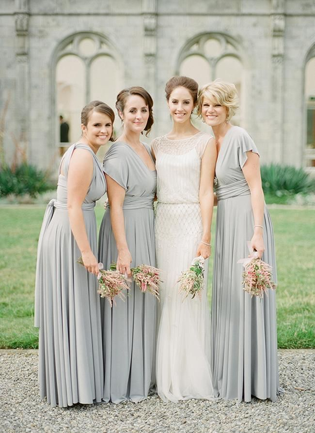 Set of 8 Bridesmaid dress, Grey Convertible Dress, Wedding Dress Convertible, Evening Dress, Party Dress, Beach Wedding Dress