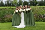 Pack of 7 Infinity Dresses, Green Convertible Dress, Convertible Wrap Bridesmaid Dress, Long Convertible Bridesmaid Dress