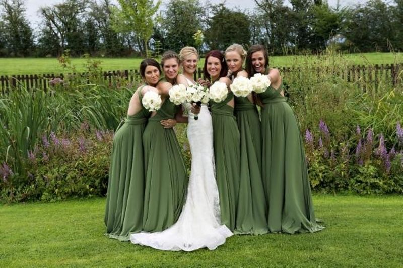 Green Bridal Party Dresses