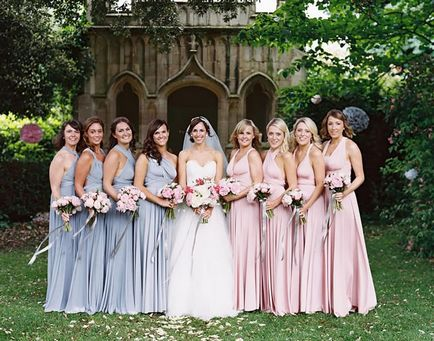 Pack of 10 Convertible Bridesmaid Dress, Grey, Pink Infinity Dresses, Convertible Wrap Bridesmaid Dress, Party Dress