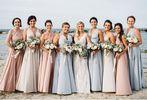Set of 15 Long Infinity Dress, Pink, White, Grey Convertible Dress, Wedding Party Gift, Infinity Wedding Dress